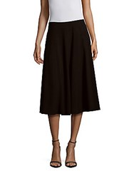 Lafayette 148 New York Solid A Line Skirt Black