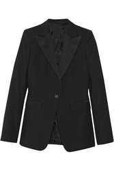 Blk Dnm 10 Satin Trimmed Wool Jacket