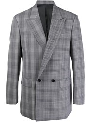 Juun.J Checked Double Breasted Blazer 60