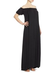 Rachel Pally Plus Size Off The Shoulder Peasant Ossiane Gown Black