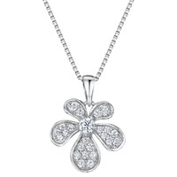 Jools By Jenny Brown Cubic Zirconia Abstract Bloom Necklace Silver