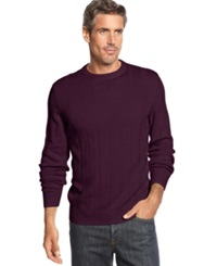 John Ashford Big And Tall Ribbed Crew Neck Sweater Red Plum