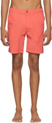 Onia Orange Calder Swim Shorts