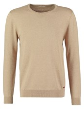 Knowledge Cotton Apparel Jumper Dessert Sand Camel