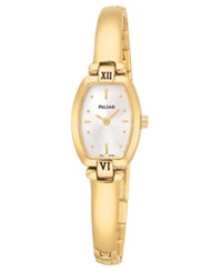 Pulsar Watch Women's Gold Tone Stainless Steel Bracelet Pega68 Women's Shoes