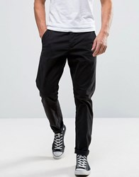 Only And Sons Slim Fit Chinos In Black Black