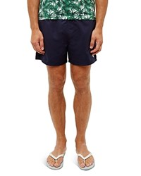 Ted Baker Solid Drawstring Swim Shorts Navy