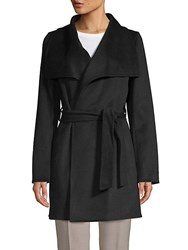 T Tahari Ella Wrapped Coat Black