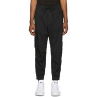 Y 3 Black Twill Cargo Lounge Pants
