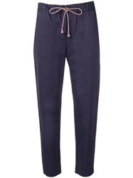 Semicouture Casual Cropped Trousers Blue