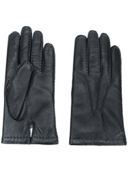 N.Peal Chelsea Leather Gloves Black