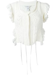 Philosophy Di Lorenzo Serafini Knitted Crop Gilet White
