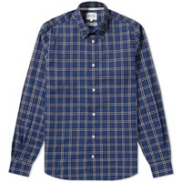 Norse Projects Hans Summer Check Shirt Blue