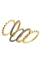 Freida Rothman Women's Contemporary Deco Stacking Rings Set Of 5