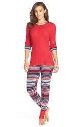 Women's Splendid Cozy Pajama Set Holiday Fair Isle