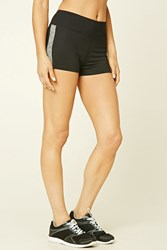Forever 21 Active Marled Shorts Black Charcoal