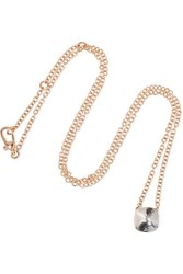 Pomellato Nudo 18 Karat Rose And White Gold Topaz Necklace