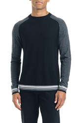 Good Man Brand Mix Modern Slim Fit Wool Sweater Black