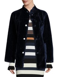 Opening Ceremony Culver Faux Fur Reversible Coat