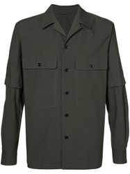 Christophe Lemaire Detachable Sleeves Shirt Men Cotton 46 Grey