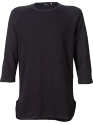 Cwst Three Quarter Sleeve T Shirt Black