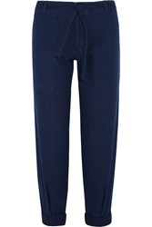 Mih Jeans Sonoran Cotton Twill Straight Leg Pants Blue