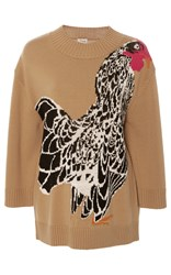 Temperley London Bird Jacquard Knit Jumper Multi