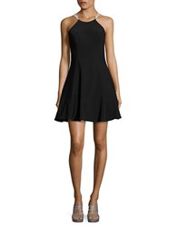 Betsy And Adam Embellished Fit Flare Dress Black Fuschia