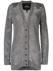 Marc Jacobs Loose Knit Cardigan Silver