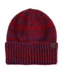 Penguin Toben Ribbed Cuffed Beanie Hat Pomegranate Blue