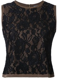 Guild Prime Lace Sleeveless Blouse Black