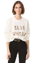 Wildfox Couture Elsewhere Sweater Clean White