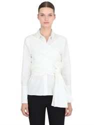 Cameo Wrap Front Cotton Shirt