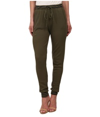 Splendid Thermal Mixed Venice Stripe Pants Olive Women's Casual Pants