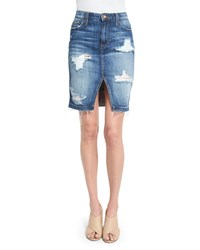 Joe's Jeans Distressed Denim Pencil Skirt Kumi Women's
