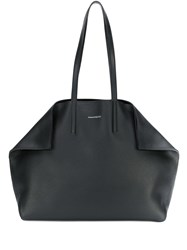 Alexander Mcqueen Small Butterfly Shopper Bag Black