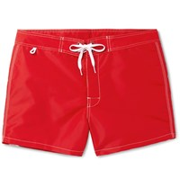 Sundek Rainbow Mid Length Swim Shorts Red