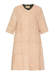 By Walid Vintage Crochet Swing Coat