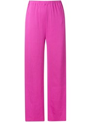 G.V.G.V. Ribbed Jersey Wide Trousers Pink And Purple