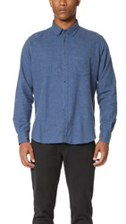 Brooklyn Tailors Nubbed Flannel Sport Shirt Hudson Blue
