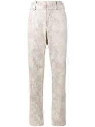 Y Project Snakeskin Print Trousers Nude And Neutrals