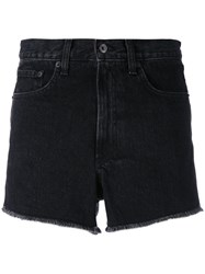 Rag And Bone Jean High Rise Frayed Denim Shorts Women Cotton 27 Black