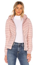 Soia And Kyo Chalee Puffer Jacket In Pink. Rose