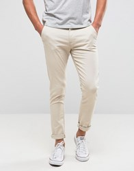 New Look Skinny Chinos In Stone Stone