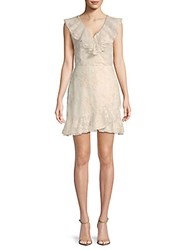 Saks Fifth Avenue Harleigh Embroidered A Line Dress Ivory