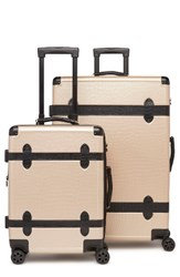 Calpak 2 Piece 30 Inch Trunk And 22 Inch Trunk Rolling Luggage Set Beige Nude