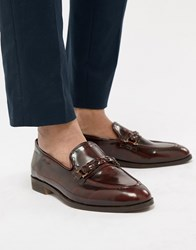 House Of Hounds Blain Bar Loafers In Burgundy Red