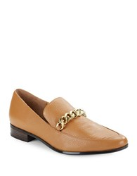Calvin Klein Fanna Pebbled Leather Loafers Almond Tan