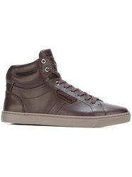 Dolce And Gabbana 'London' Hi Top Sneakers Pink And Purple