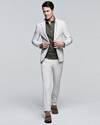 Hardy Amies Ivory Slim Fit Trousers 100 Bloomingdale's Exclusive
